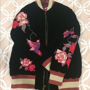 Urban Outfitters Reversible Velour Bomber